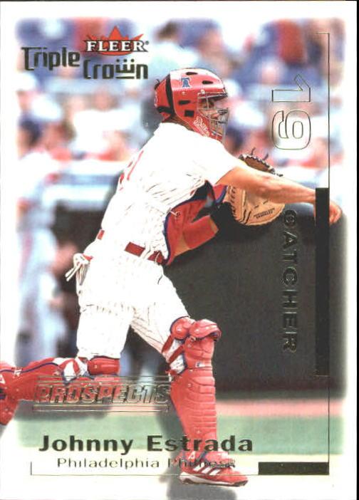 2001 Fleer Triple Crown #310 Johnny Estrada/2999 RC