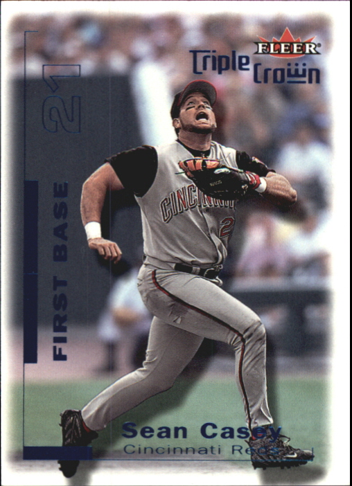 2001 Fleer Triple Crown Blue #75 Sean Casey/20