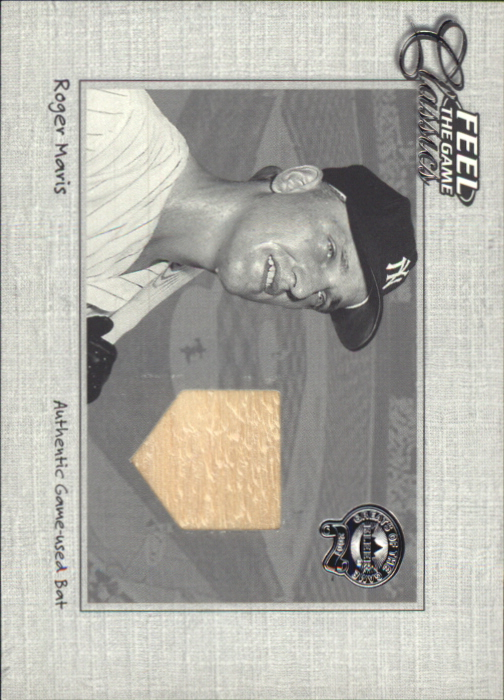2001 Greats of the Game Feel the Game Classics #10 Roger Maris Bat