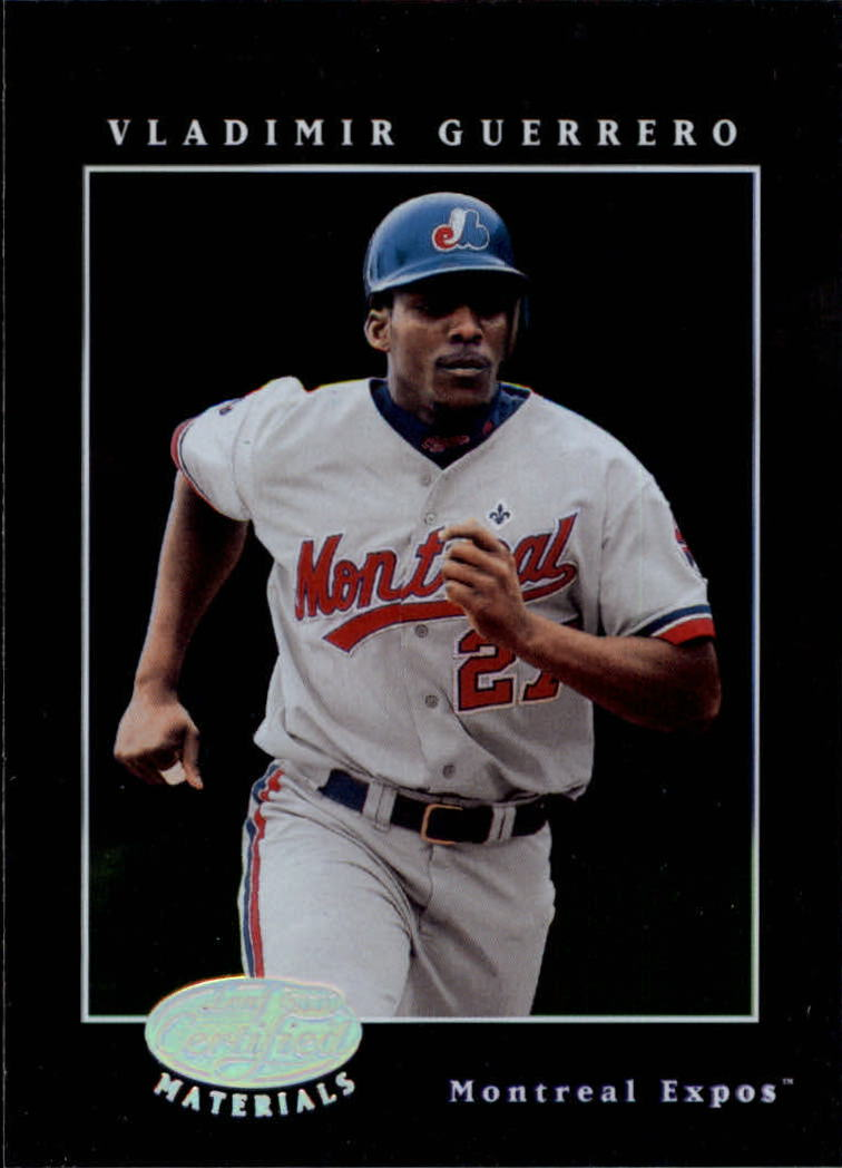 2001 Leaf Certified Materials #25 Vladimir Guerrero