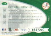 2001 Leaf Certified Materials #124 Adrian Hernandez FF RC back image