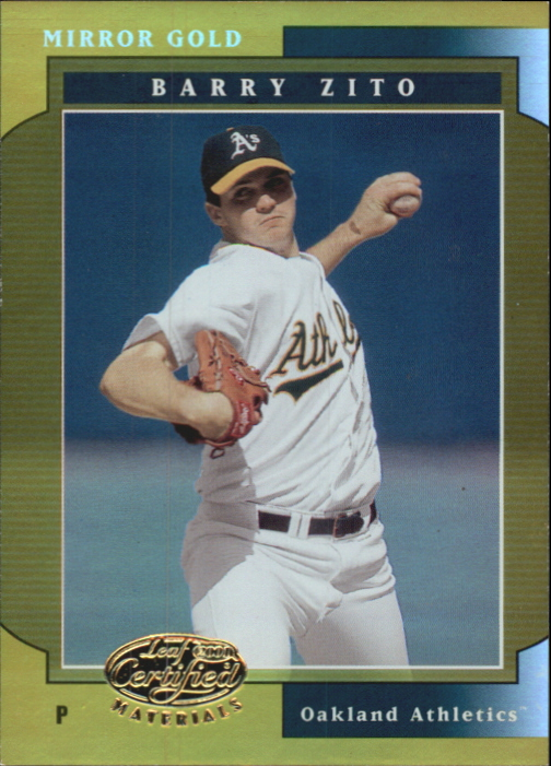 2001 Leaf Certified Materials Mirror Gold #28 Barry Zito