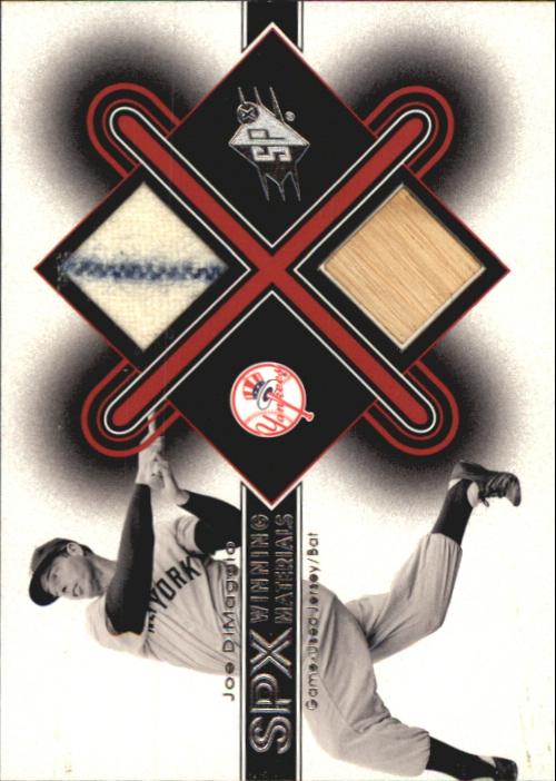 2001 SPx Winning Materials Bat-Jersey #JD Joe DiMaggio
