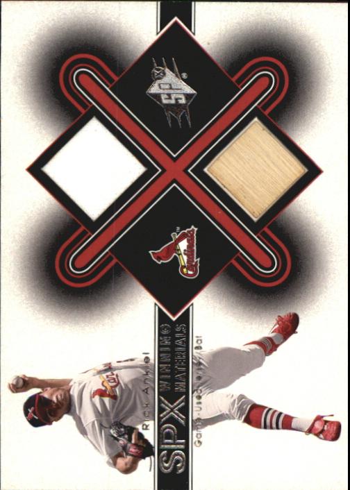 2001 SPx Winning Materials Bat-Jersey #RA Rick Ankiel *