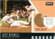 2001 Stadium Club Play at the Plate Dirt Relic #PP6 Jeff Bagwell ERR