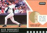 2001 Stadium Club Play at the Plate Dirt Relic #PP8 Alex Rodriguez