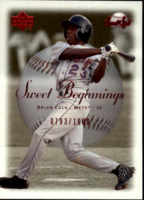 2001 Sweet Spot #64 Brian Cole SB