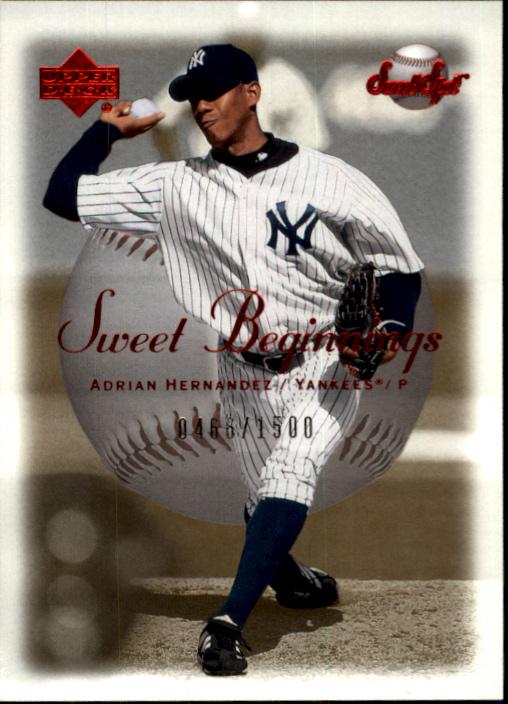 2001 Sweet Spot #124 Adrian Hernandez SB RC