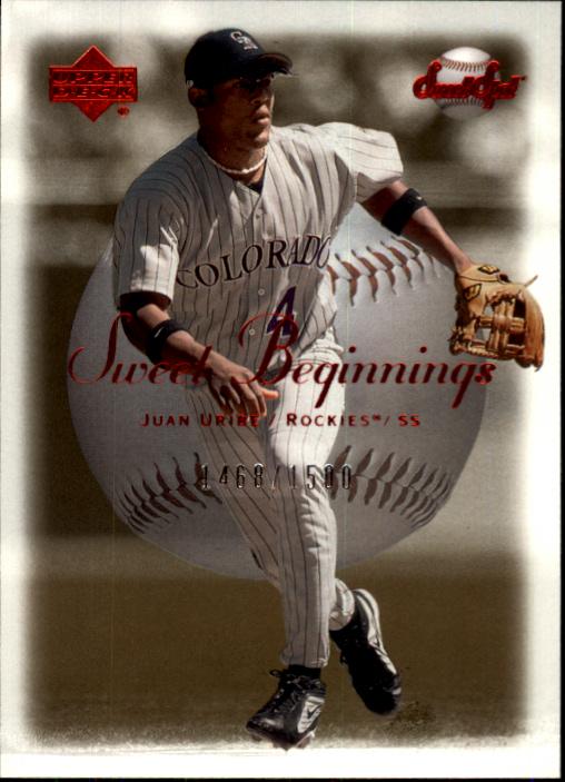 2001 Sweet Spot #128 Juan Uribe SB RC