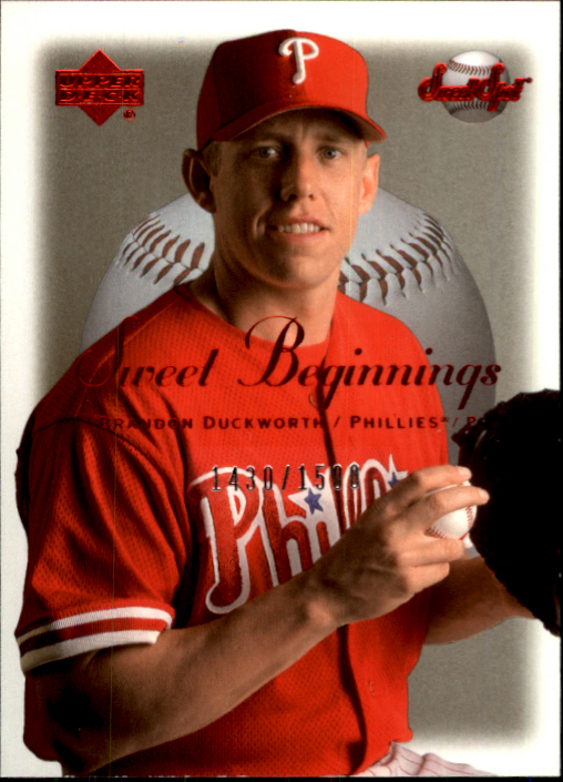 2001 Sweet Spot #133 Brandon Duckworth SB RC