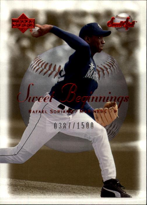 2001 Sweet Spot #135 Rafael Soriano SB RC