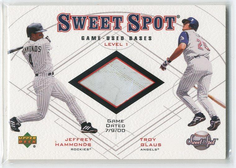 2001 Sweet Spot Game Base Duos #B1HG Jeffrey Hammonds/Troy Glaus
