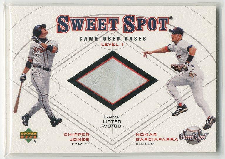2001 Sweet Spot Game Base Duos #B1JG Chipper Jones/Nomar Garciaparra