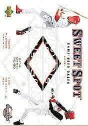 2001 Sweet Spot Game Base Duos #B1MG Mark McGwire/Ken Griffey Jr.
