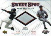 2001 Sweet Spot Game Base Duos #B1RJ Alex Rodriguez/Derek Jeter