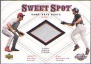 2001 Sweet Spot Game Base Duos #B1RR Scott Rolen/Cal Ripken