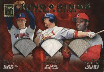 2001 Topps King of Kings Relics #KKLE2 Mark Mcgwire/Bob Gibson/Nolan Ryan