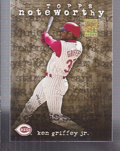 2001 Topps Noteworthy #TN8 Ken Griffey Jr.