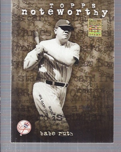 2001 Topps Noteworthy #TN30 Babe Ruth