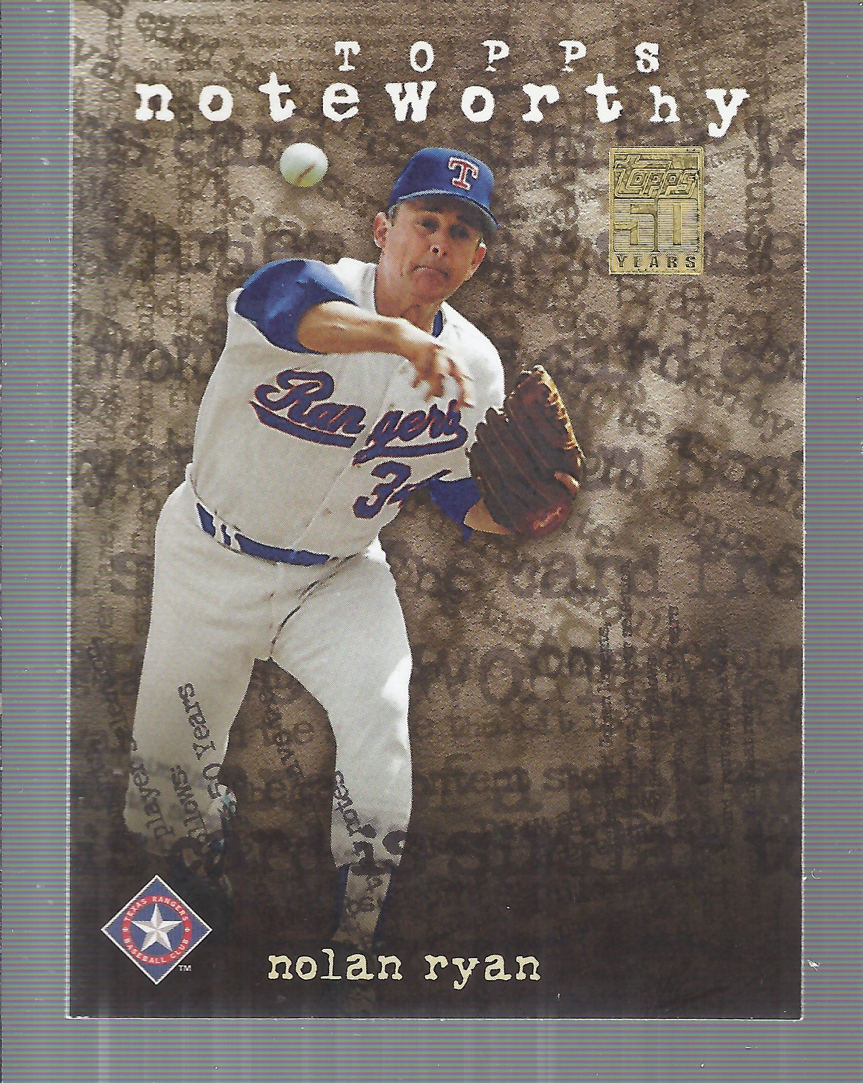 2001 Topps Noteworthy #TN32 Nolan Ryan