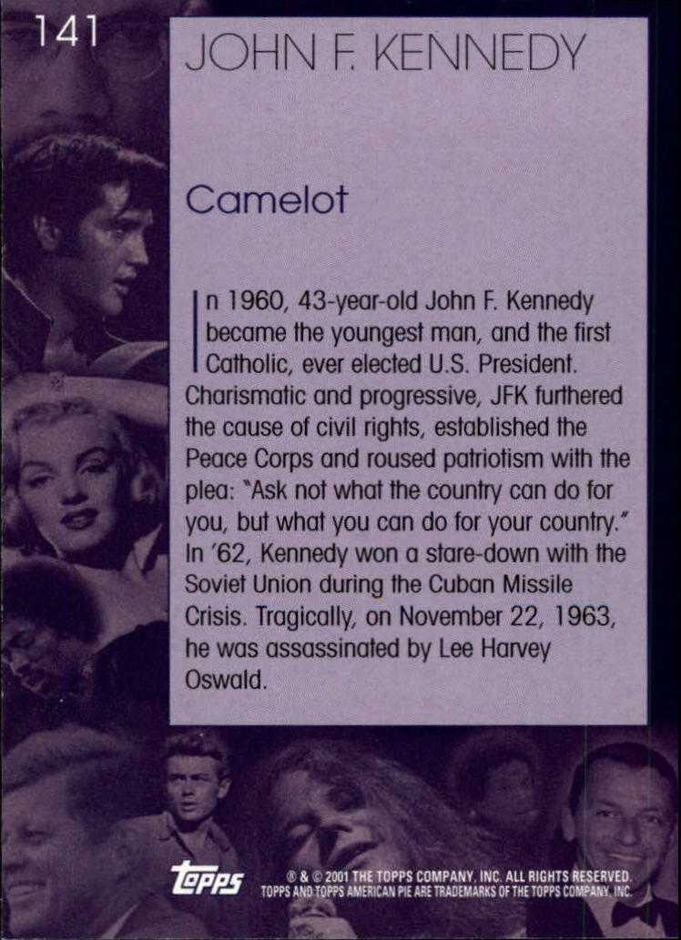 2001 Topps American Pie #141 John F. Kennedy back image