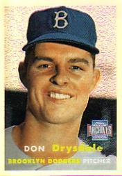 2001 Topps Archives Reserve #22 Don Drysdale 57