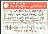 2001 Topps Archives Reserve #84 Early Wynn 52 back image