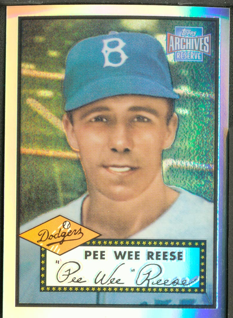 2001 Topps Archives Reserve #93 Pee Wee Reese 52