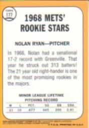 2001 Topps Archives Reserve #97 Nolan Ryan 68 back image