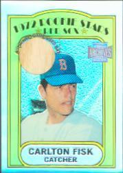 2001 Topps Archives Reserve Rookie Reprint Relics #ARR23 Carlton Fisk Bat