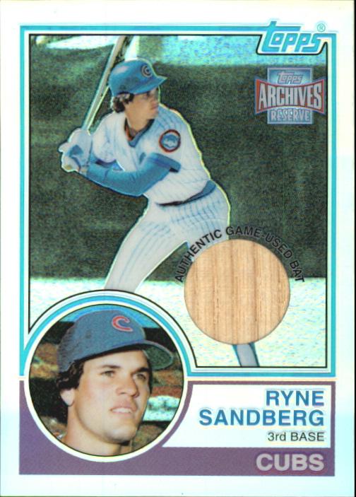 2001 Topps Archives Reserve Rookie Reprint Relics #ARR41 Ryne Sandberg Bat