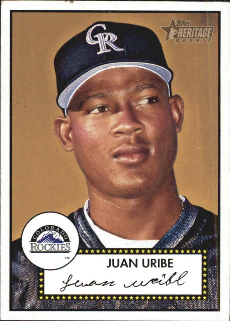 2001 Topps Heritage #246 Juan Uribe RC