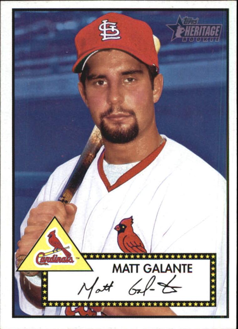 2001 Topps Heritage #252 Matt Galante RC
