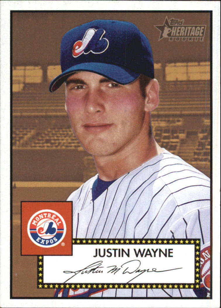 2001 Topps Heritage #266 Justin Wayne RC