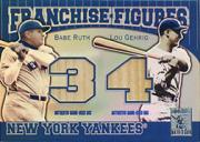 2001 Topps Tribute Franchise Figures Relics #RG Babe Ruth/Lou Gehrig A