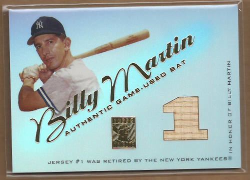 2001 Topps Tribute Game Bat Relics #RBBM Billy Martin 1