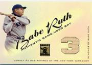 2001 Topps Tribute Game Bat Relics #RBBR Babe Ruth 2