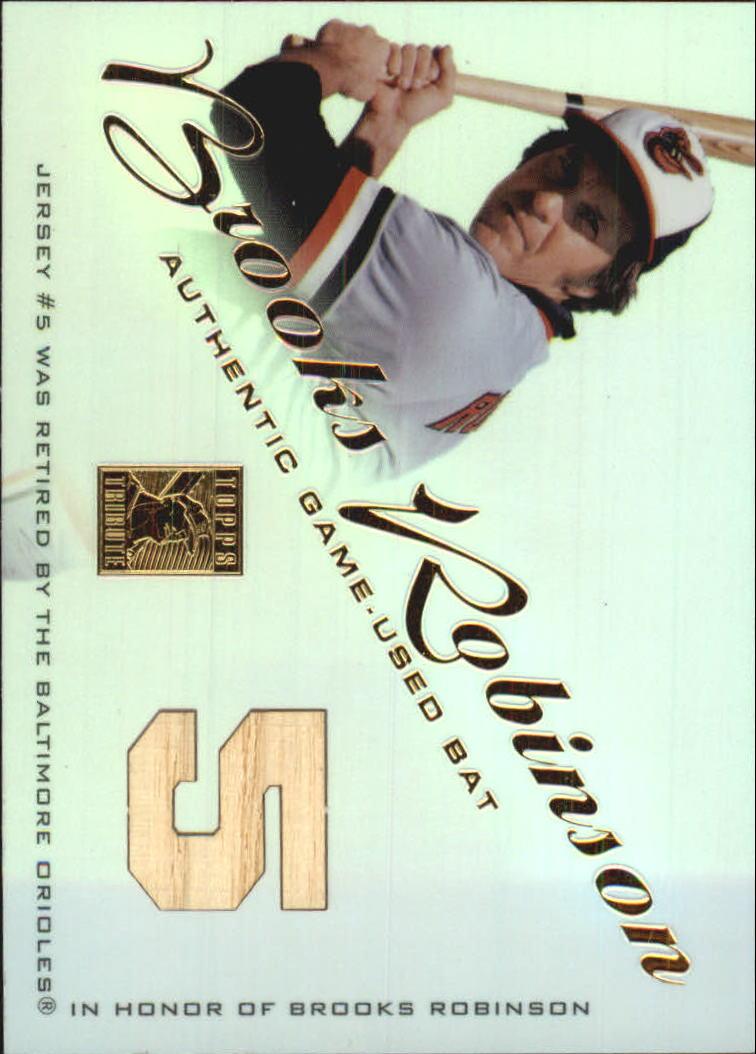 2001 Topps Tribute Game Bat Relics #RBBRO Brooks Robinson 1