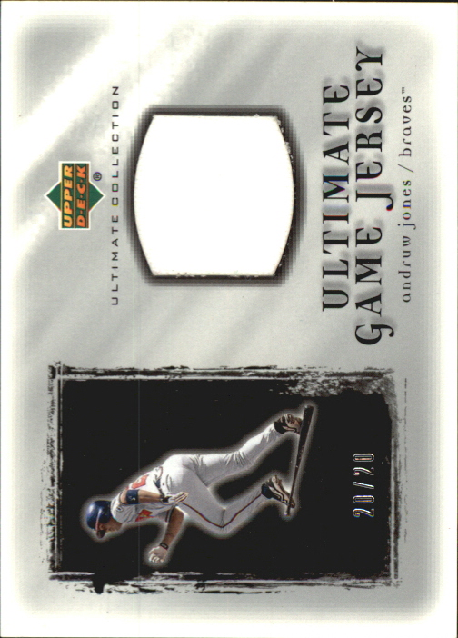 2001 Ultimate Collection Game Jersey Silver #UAJ Andruw Jones