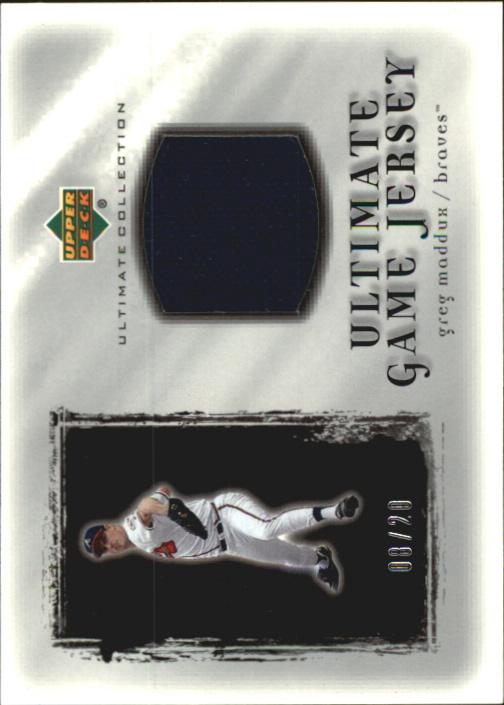 2001 Ultimate Collection Game Jersey Silver #UGM Greg Maddux