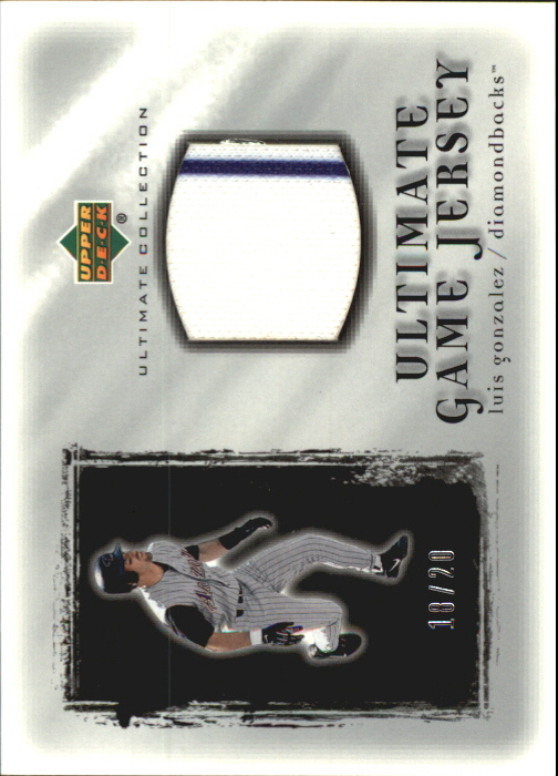 2001 Ultimate Collection Game Jersey Silver #ULG Luis Gonzalez