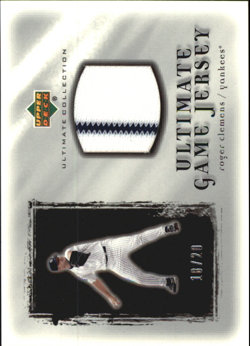 2001 Ultimate Collection Game Jersey Silver #URC Roger Clemens