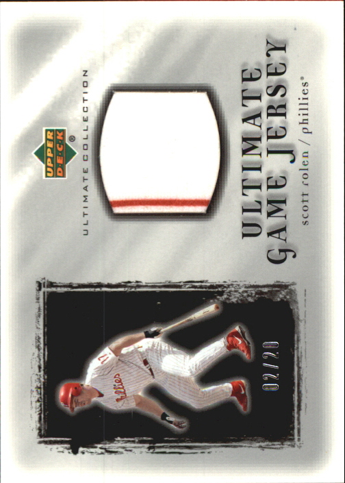 2001 Ultimate Collection Game Jersey Silver #USR Scott Rolen