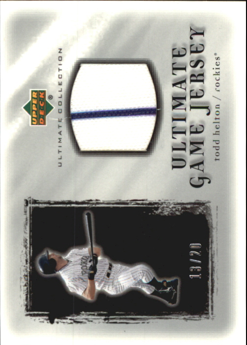 2001 Ultimate Collection Game Jersey Silver #UTH Todd Helton