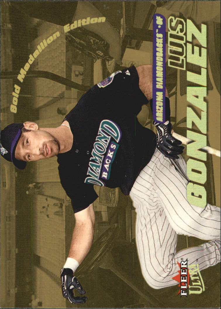 2001 Ultra Gold Medallion #117 Luis Gonzalez