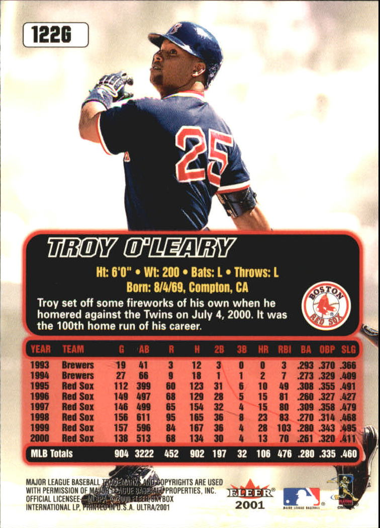 2001 Ultra Gold Medallion #122 Troy O'Leary back image