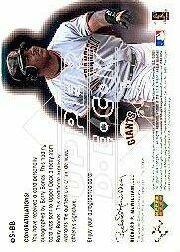 2001 Upper Deck eVolve Autograph #ESBB Barry Bonds S1 back image