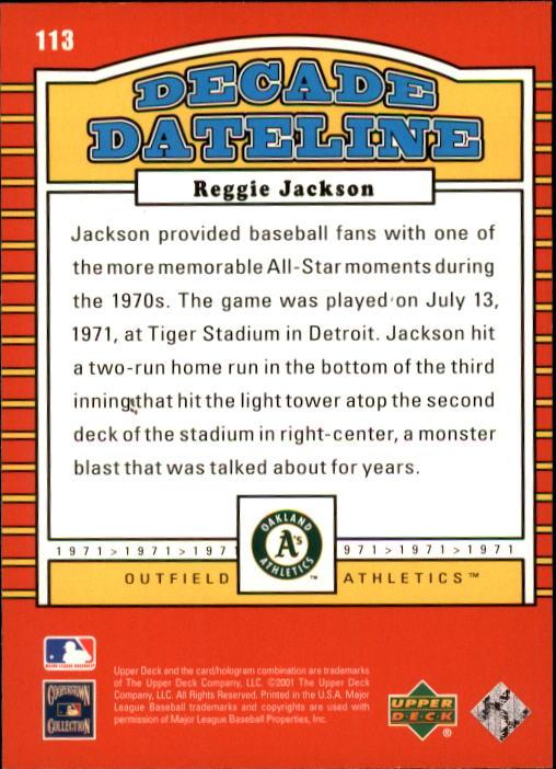 2001 Upper Deck Decade 1970's #113 Reggie Jackson DD back image