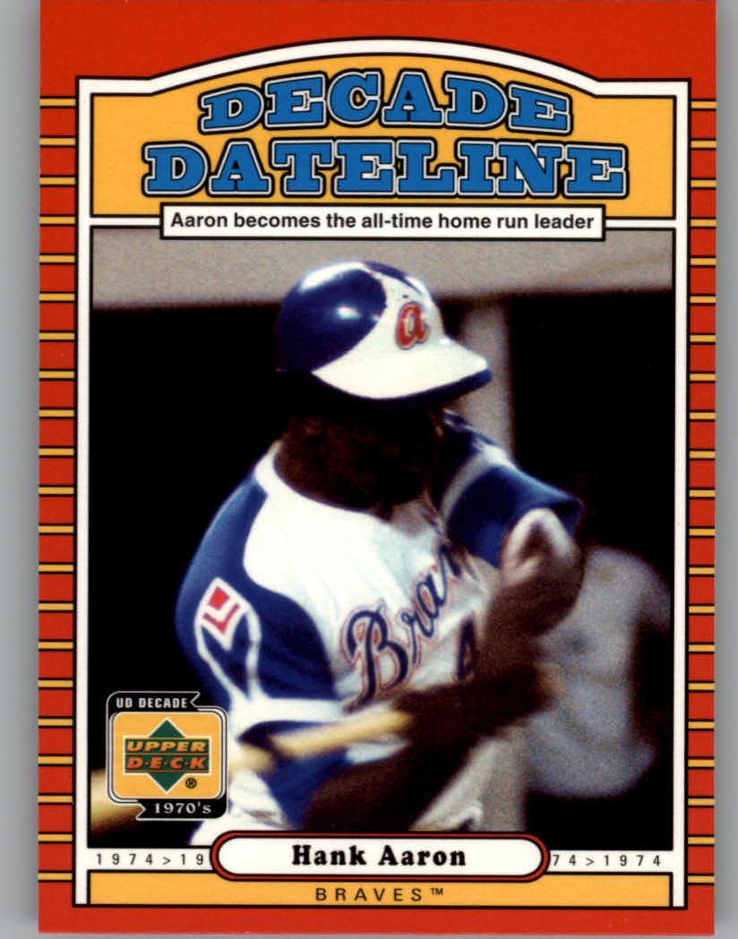 2001 Upper Deck Decade 1970's #122 Hank Aaron DD
