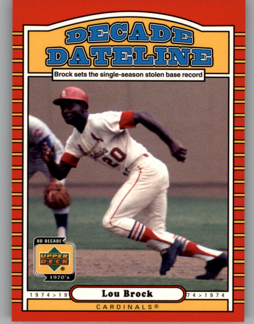 2001 Upper Deck Decade 1970's #123 Lou Brock DD